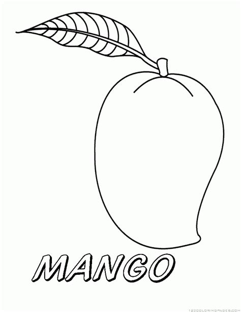 Coloring Mango by Coloring Pages Mango Fruit