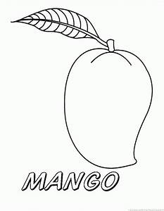 Mango clipart colouring page - Pencil and in color mango ...