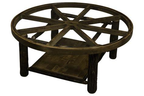 wagon wheel coffee table hickory wagon wheel coffee table