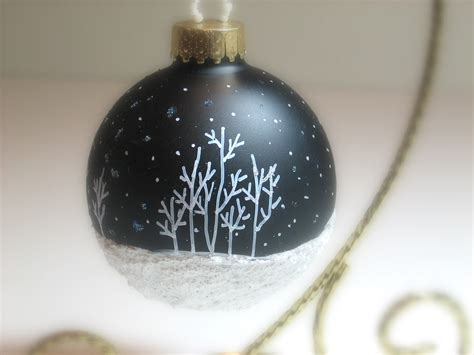 our most popular hand painted christmas ornament aspen snow