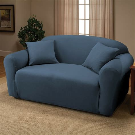 Stretch Loveseat Slipcover by Royal Blue Jersey Loveseat Stretch Slipcover Cover