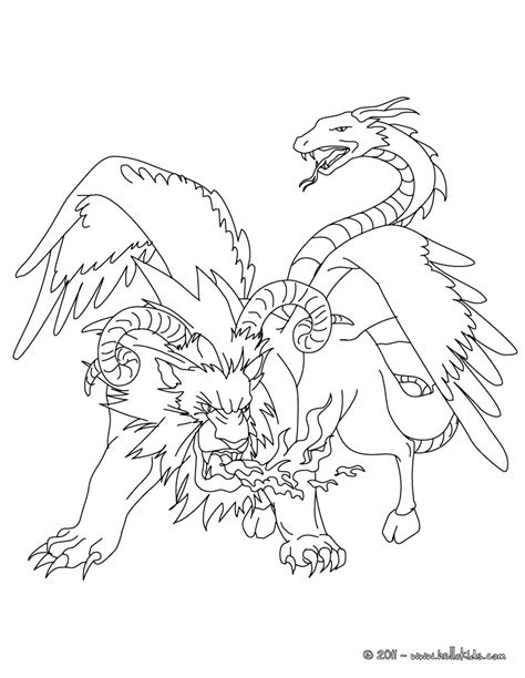chimera template pandora greek mythology coloring pages coloring pages