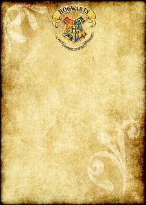 free printable harry potter party blank parchment a4 size With letter parchment