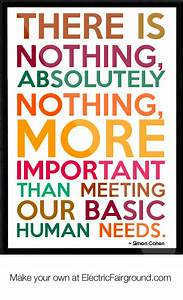 Basic Needs Quo... Important Meeting Quotes