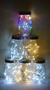 Christmas, Tree, Made, With, Led, Lights, In, Jars