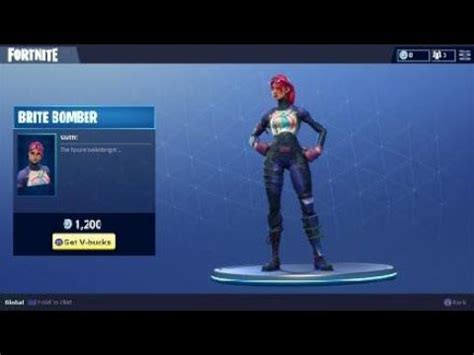 brite bomber outfit character skin  fortnite battle