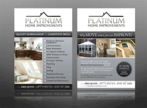 contoh desain brosur properti elegan bursadesaincom
