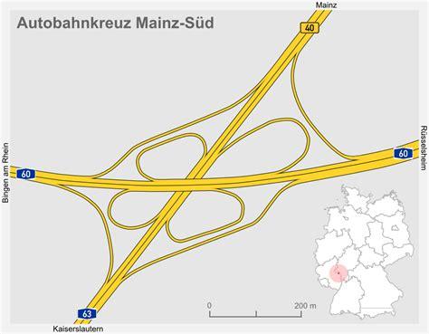 re d accès autobahnkreuz mainz s 252 d
