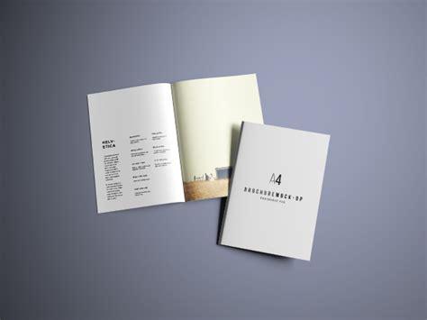 A4 Bifold Brochure Mockup Free A4 Brochure Mockup Psd