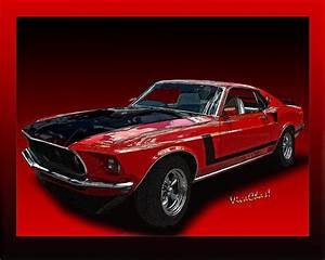 69 Mustang Mach 1 Photograph by Chas Sinklier