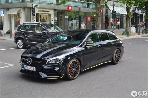 If you'd suggested this car well, the original cla was a sales phenomenon so mercedes was always sure to bring it back, and we've a soft spot for its 'shooting brake' estate. Mercedes-AMG CLA 45 Shooting Brake X117 Yellow Night Edition - 19 July 2017 - Autogespot