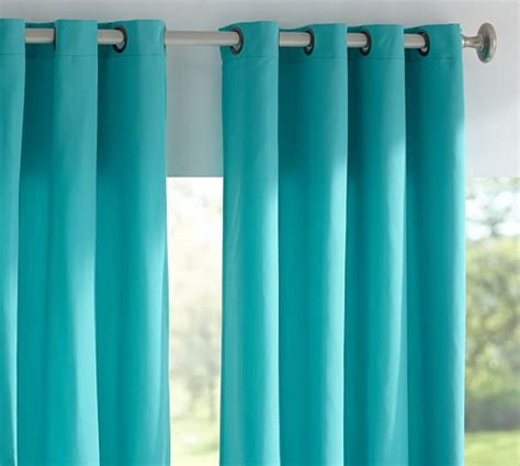 Pottery Barn Indoor Outdoor Curtains by Sunbrella 174 Solid Indoor Outdoor Grommet Drape Pottery Barn