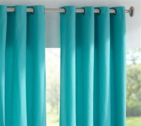 pottery barn indoor outdoor curtains sunbrella 174 solid indoor outdoor grommet drape pottery barn