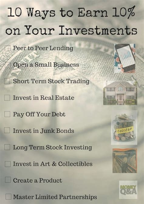 ten ways to earn a 10 rate of return on investment