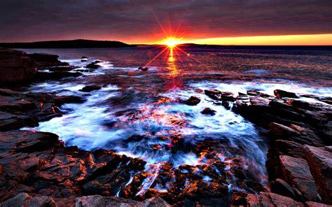 Sunset At Acadia National Park Maine Desktop Background ...