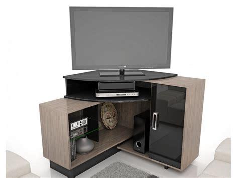 meuble tv avec bureau meuble tv d 39 angle salvador avec rangements mdf noir et