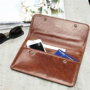 Personalised mr and mrs leather travel document holder by for Best travel document wallet