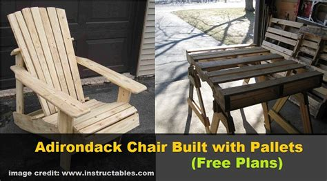diy adirondack chair built  pallets  plans