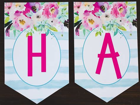 printable birthday banner  clever sisters