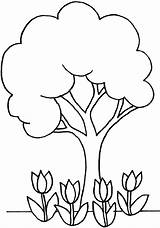 Coloring Pages Tree Elm Idea Printable Trees Line Getcolorings Sweet sketch template