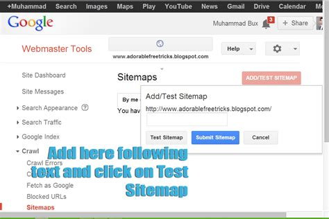 Website Submission Google Webmaster Tool