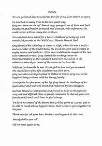 eulogy poems With eulogy template for brother
