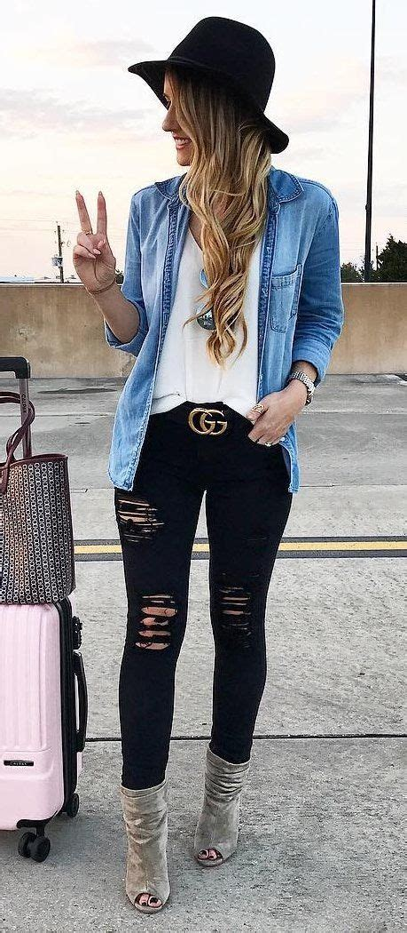 Best 25+ Denim shirt outfits ideas on Pinterest | Chambray outfit Black denim shirt and ...