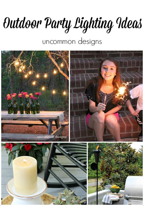 Outdoor string lights bring a great feel and hominess to your backyard space. Easy Outdoor Party Lighting Ideas