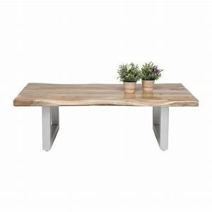 Table Basse Design Bois : table basse rustique bois pure kare design ~ Teatrodelosmanantiales.com Idées de Décoration