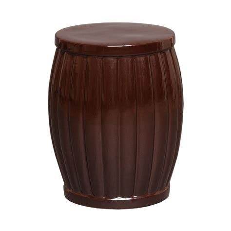 Garden Stool by Emissary Fluted Garden Brown Stool 12667br The Home Depot