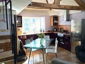 amenager une cuisine ouverte sur salle a manger With deco cuisine avec mobilier de salle À manger contemporain