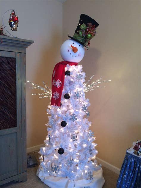 snowman tree christmas decor   snowman christmas