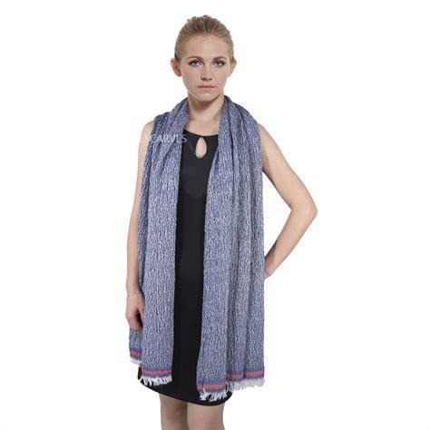 vintage soft crinkle shawl  navy