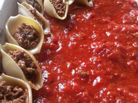 recettes de gratin de pate coquilles farcies sauce tomate