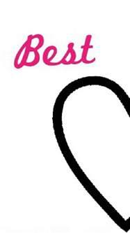 Best Friend Heart Phone Wallpaper