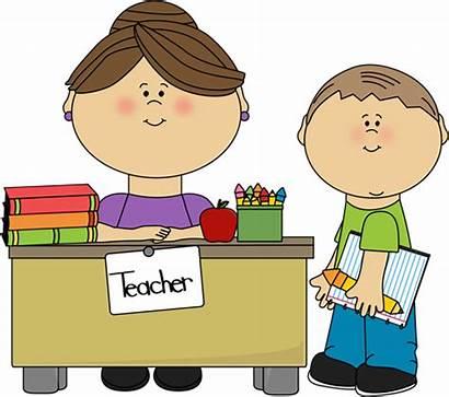 Teacher Clipart Student Talking Clip Parents Students