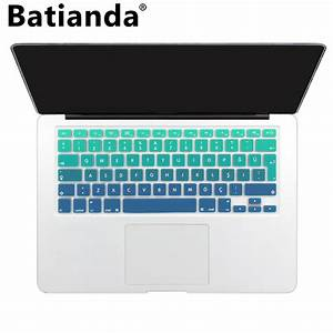 Rainbow color silicone turkey keyboard cover turkish for Kitchen colors with white cabinets with macbook pro 13 inch stickers