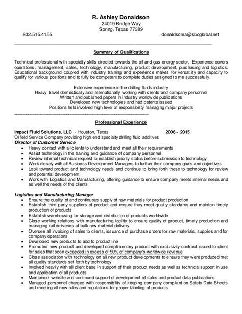 donaldson resume personal profile 2