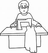 Sastre Colorear Desenhos Imprimir Colorir Maquina Dibujo Coser Profissoes Costureira Costura Pintar Cosiendo Vestido Profiss Imagens Dibujosa Dibujos Jogos Sastreria sketch template