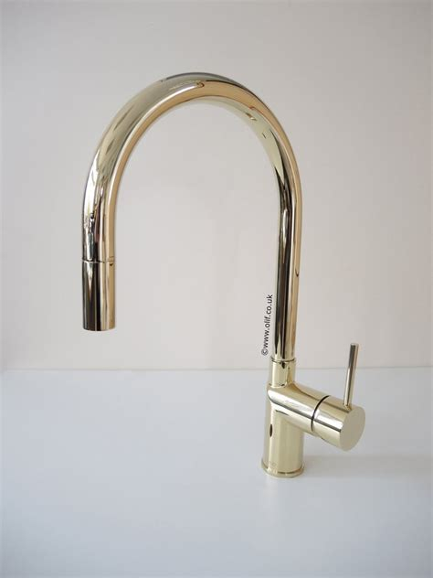 gold brass pull  kitchen mixer tap stainless steel