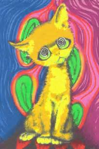 trippy cat psychedelic trippy cat amazing gif collection