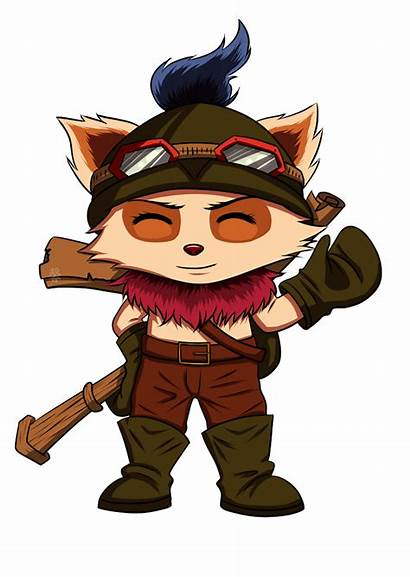 Teemo Lol League Legends Drawing Character Transparent