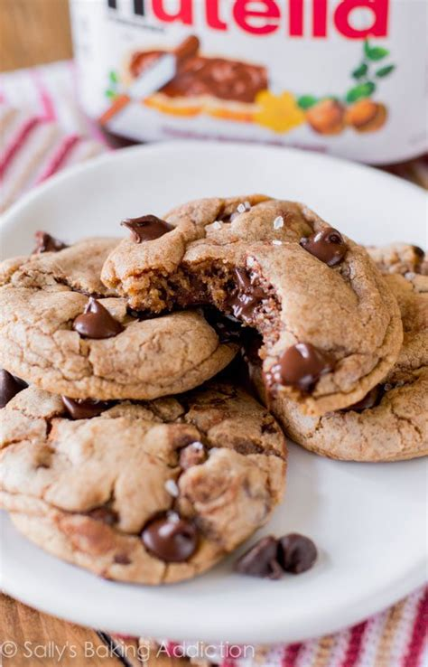 what to bake with nutella nutella chocolate chip cookies sallys baking addiction