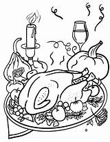Coloring Dinner Thanksgiving Printable Pdf Diner Turkey Coloringcafe Sheet Feast Printables Template Club Sketch sketch template