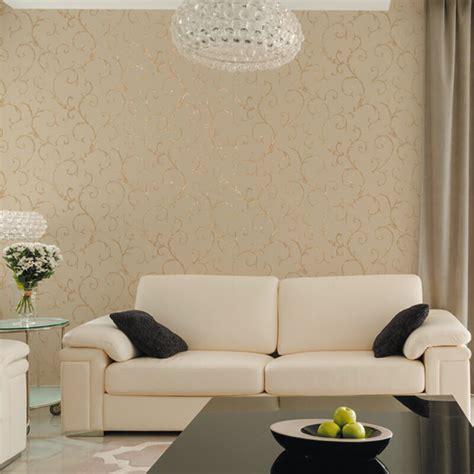 muriva acanthus scroll beige wallpaper italian style