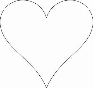 heart stencils for full page paper clipart best With full page heart template