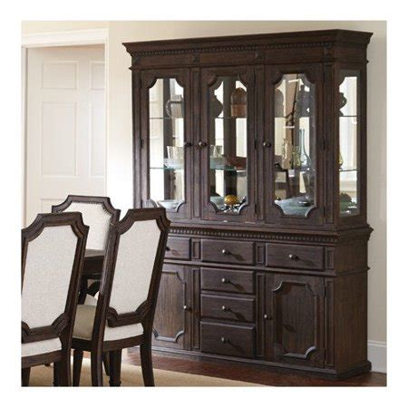 Silver China Cabinet by Steve Silver Furniture Cayden China Cabinet Walmart