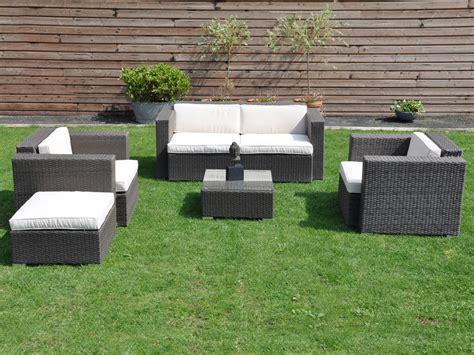salon de jardin canapé salon de jardin bas quot mirano quot canapé 2 fauteuils