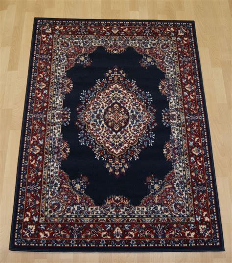 Inexpensive Rugs by Cheap Budget Navy Blue Traditional Medium
