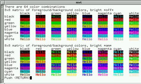 xterm color scheme re lynx dev lss color schemes for xterm
